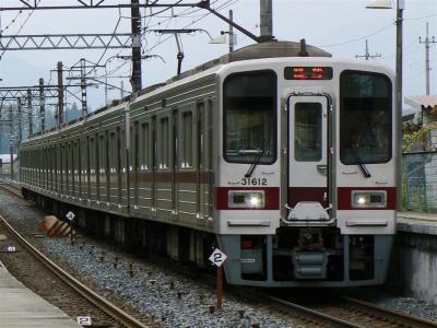 上今市駅を通過する臨時快速5064レ