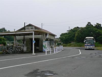 阿字ヶ浦駅駅舎と1日1本の茨城交通路線バス