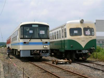 鉾田駅構内に留置されているKR-505・キハ431号車