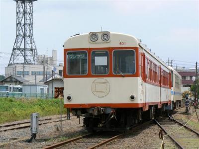 鉾田駅構内に留置されているキハ601号車