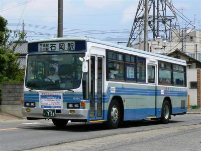 鉄道代行バスに充当された関鉄グリーンバスG024号車