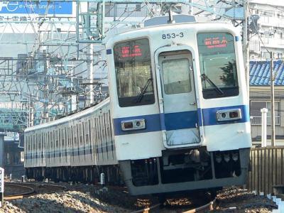 2239レ 準急 新栃木ゆきに充当された803F+853F(2006.02.13)