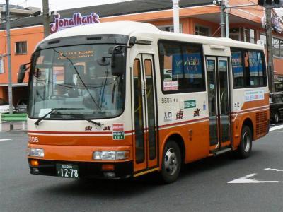 新設された竹52系統に充当された9808号車