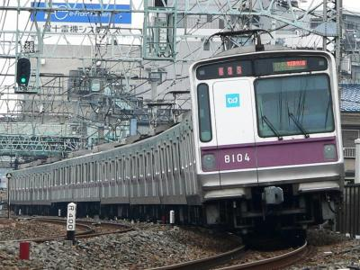 区間準急東武動物公園ゆき表示の東京メトロ8000系
