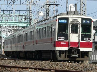 50/150列車 区間快速 浅草ゆき 2006.03.19 西新井~竹ノ塚間にて撮影