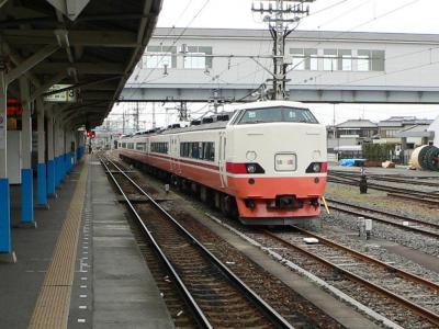 新栃木駅で折返し停車中の189系