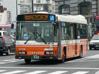 同じく北03系統に充当された9729号車