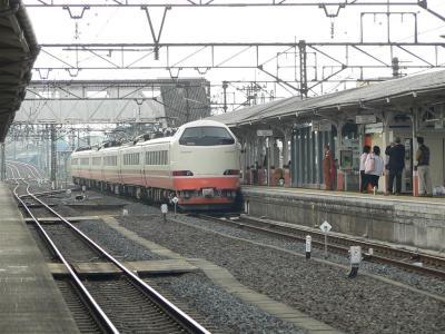 下今市駅に進入するJR485系1058M列車