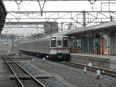 下今市駅に進入する5064列車
