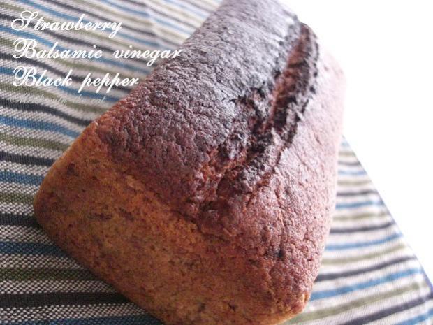 苺のバルサミコ黒コショウケーキ