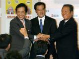 岡田副代表と小沢氏と菅氏