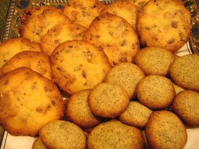 チョコ&タフィークッキーと紅茶クッキー