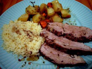 Roast pork盛り付け