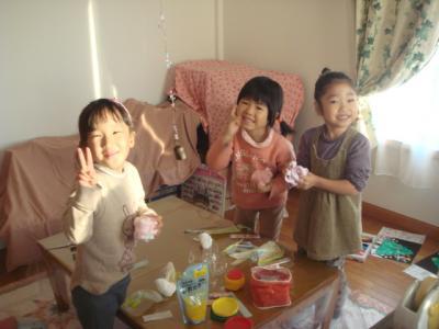 2008.12.23 クリスマスブーツ作り&ソーイング①