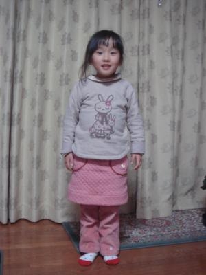 2008年 年末作成 RR ニットスカート 着用