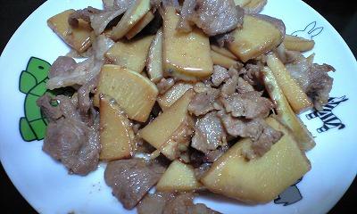 筍と豚肉の炒め物