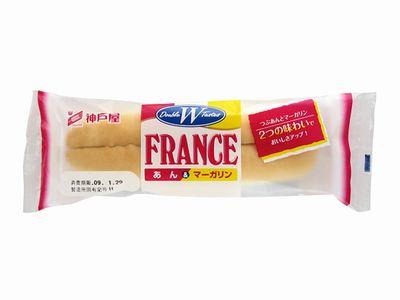 神戸屋--あん&マーガリンフランス。