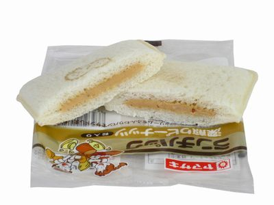 ヤマザキ--ランチパック 深煎りピーナッツ 粒入り。