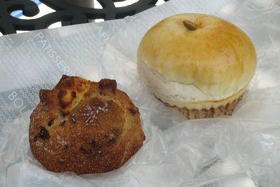 れの かまくら--りんごパン/木の実パン。