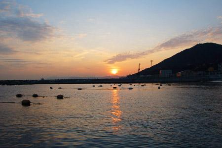 須磨の夕日