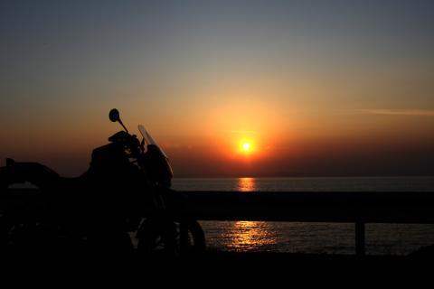御浜岬からの夕焼け