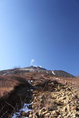 雄大な茶臼岳