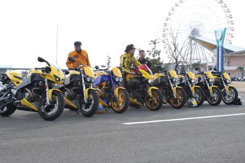 まぶしい黄色のXB集団。