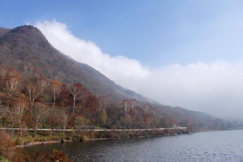 霧に包まれた赤城山