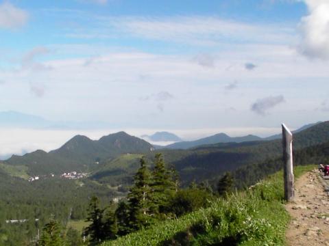 横手山。国道最高点付近。