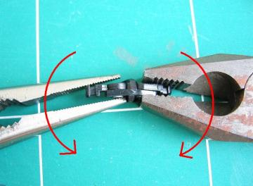 膝関節パーツの改造