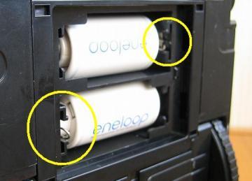 単2型スペーサー使用