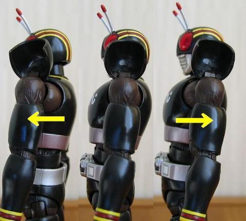 肩付根:前後可動