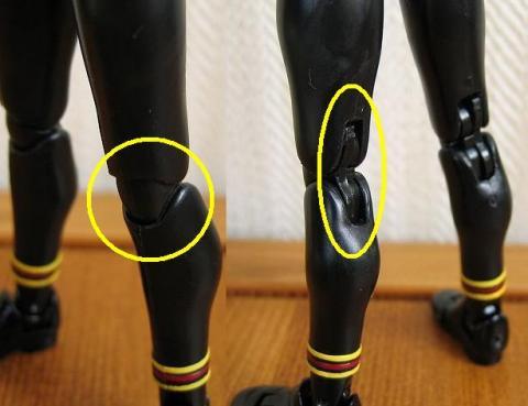 膝関節:二重関節可動