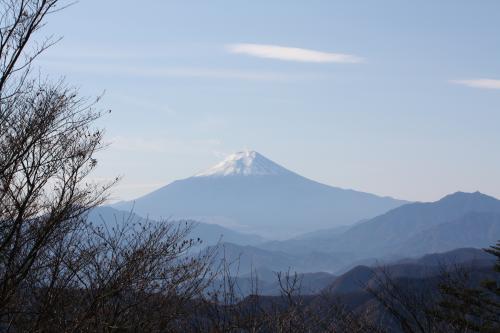 三頭山から見た富士山