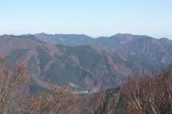 三頭山山頂から見た景色