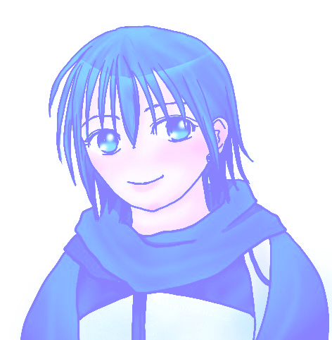 カイト君(カラー調節で緑から青へ)