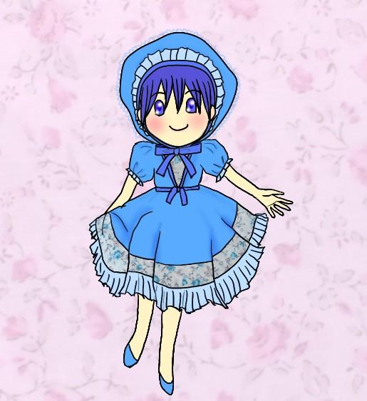 青いドレスは似合いますか?