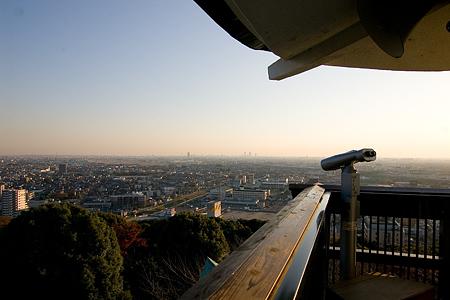 小牧山城模擬天守からの眺め