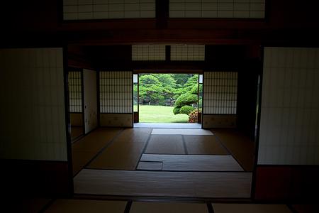和室から見る庭