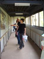 長い廊下には鳥取県の歴史が展示してありました