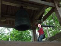 鐘桜堂で鐘もついちゃいました。