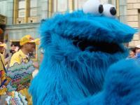 クッキーモンスターせっかくポーズとってくれたのに、シャッターチャンスミスなのだ!