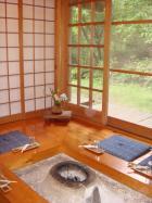 やまめ料理阿瀬 こんなお部屋でお料理を食べます