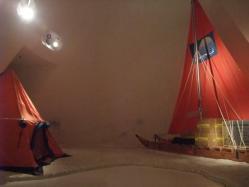 テントやソリのレプリカがありました