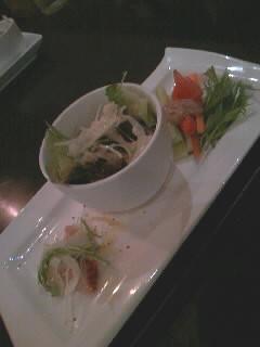 クロスcafeのサラダ