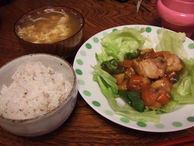 鶏肉甘辛ソース炒め