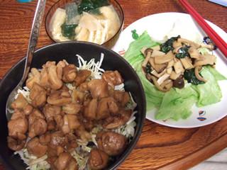 鳥丼+プリサラ
