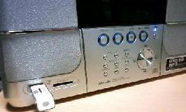 USBフラッシュメモリが挿せる!