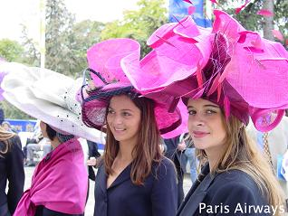 凱旋門賞の帽子美女