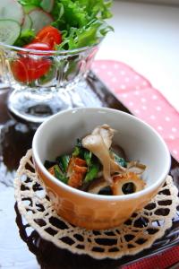 小松菜と舞茸